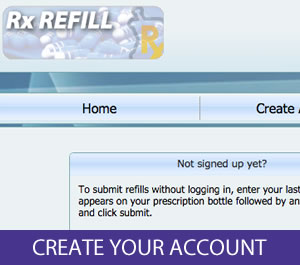 Create Your RX Refill Account